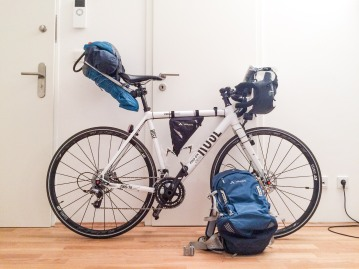 Setup Berlin Helsinki bike tour July 2016. cyclingtourist
