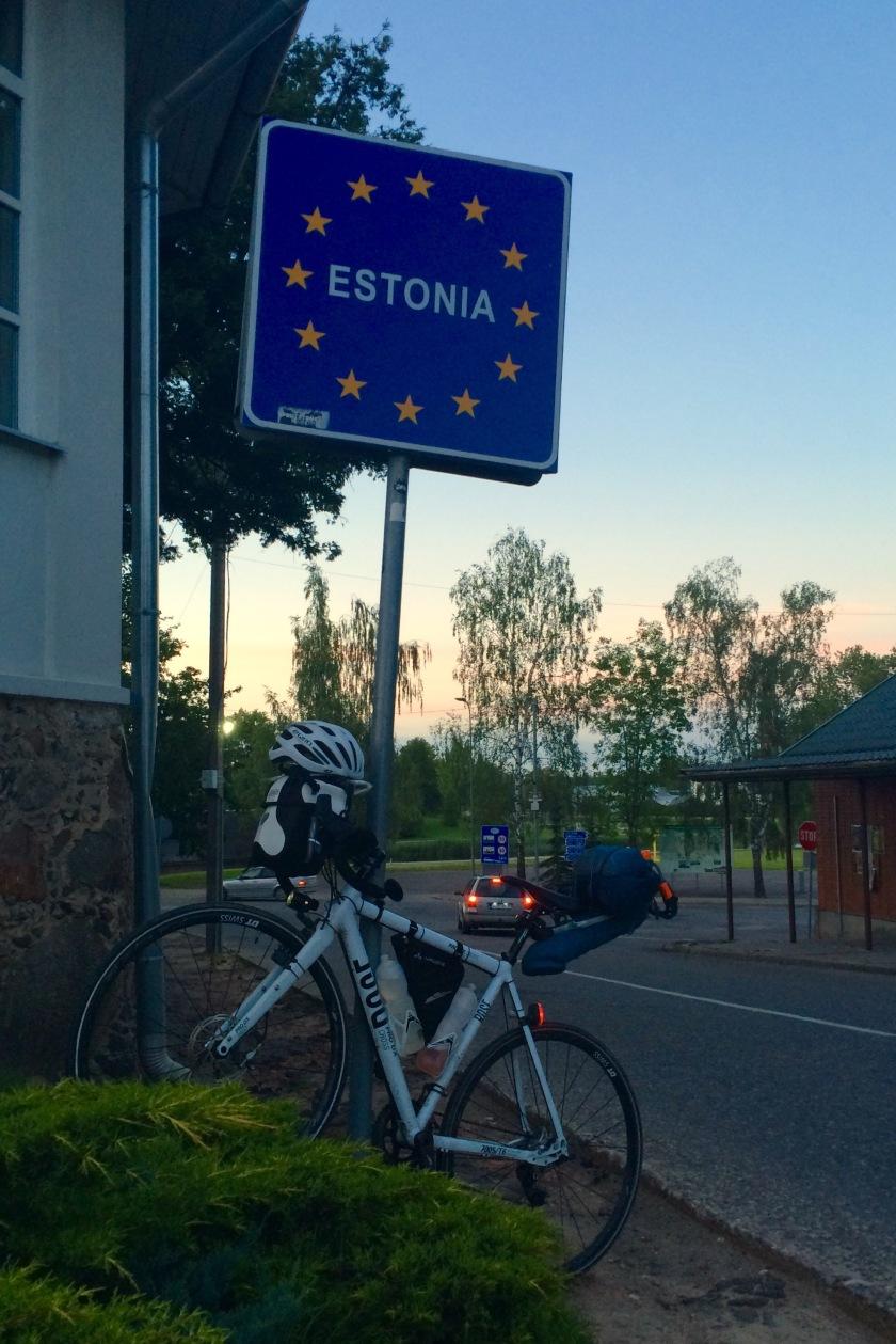 Estonian border in Valga/Valka
