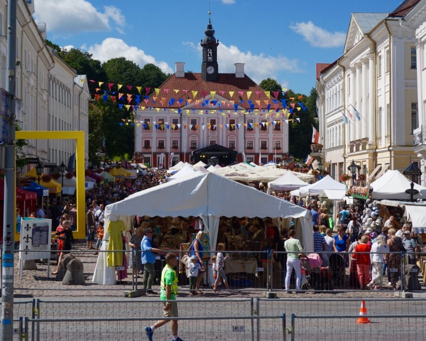 street market and festival in Tartu