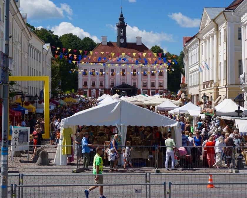 street market and festival in Tartu